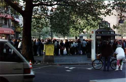 Queue outside a bank